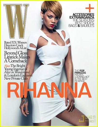 """baltajā Gucci kleitiņā Autors: 2hot Rihanna """"W Magazine"""" February 2010"""