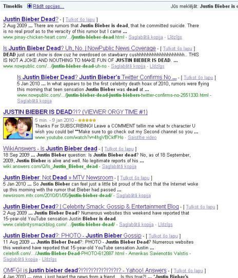 Džastins Bībers izdarījis... Autors: MiniMe Melīgais internets jeb Zvaigznes, kas mirst tikai netā.