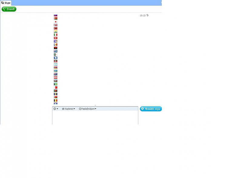 Tātad daudz karogi  flagru... Autors: kahex Skypā neiekļautie simboli.