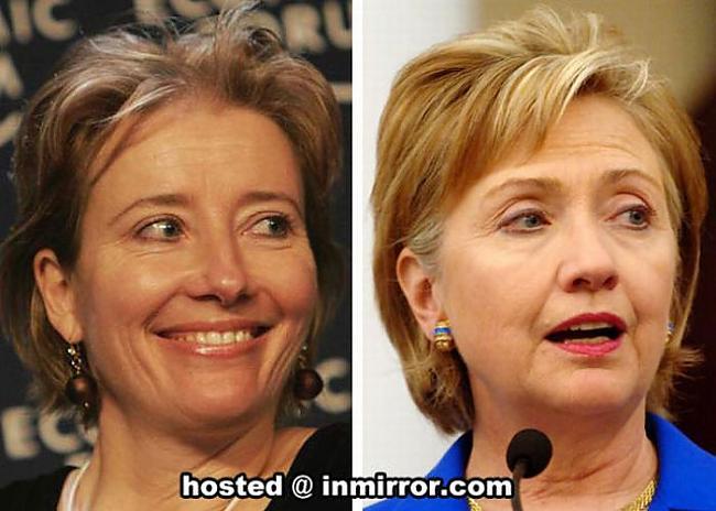Emma Thompson vs Hillary... Autors: FANS007 Paskat, Cik Līdzīgi! :D