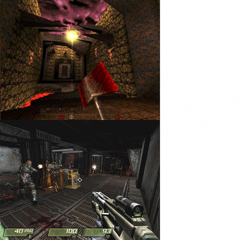 8 QUAKE 1  QUAKE IV 19972005 Autors: evanti Spēles pirms un pēc vairākiem gadiem.