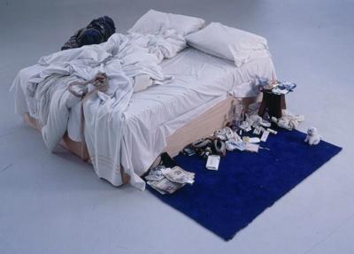 Mākslas darba nosaukums My Bed... Autors: augsina Zini,kas tas ir?