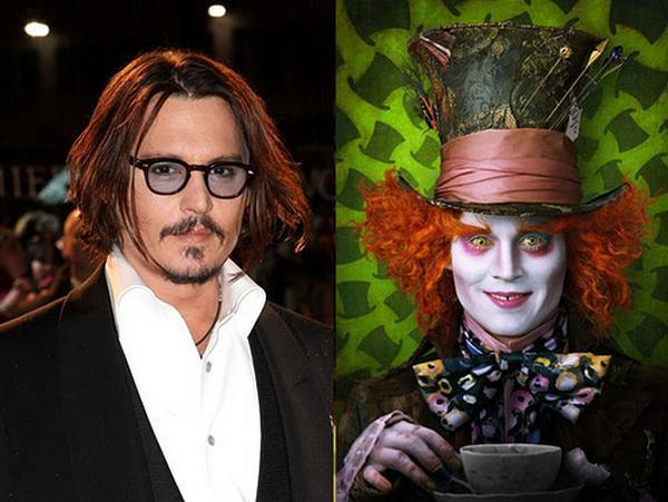 Johnny Depp quotAlice in... Autors: Snakebite Neticamas aktieru pārvērtības...