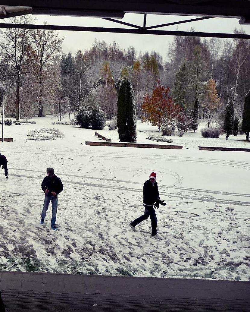 Jau siti pikojaas jo sniegs... Autors: Līīshe Ziema/pirmais sniegs/