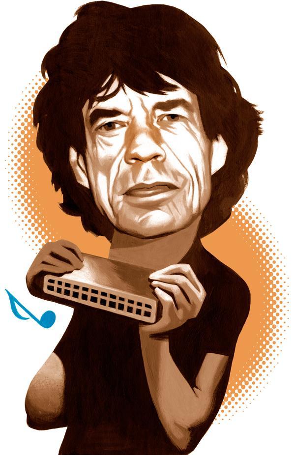 Mick Jagger on The Blues Autors: Krekeris Ilustrācijas