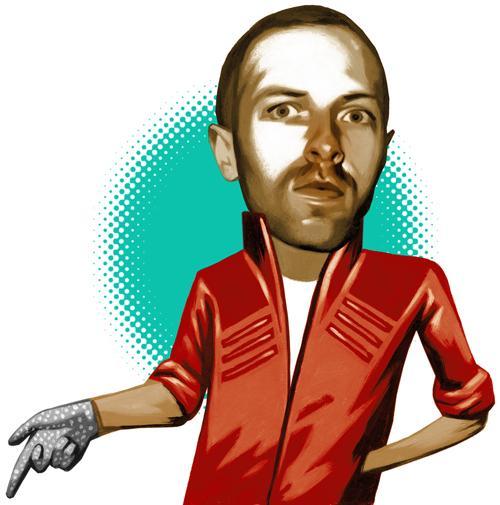 Chris Martin on 80s Pop Autors: Krekeris Ilustrācijas