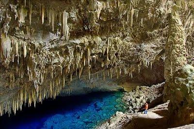 Zilais alu ezers Brazīlija Tie... Autors: Optimists NaCl Ģeoloģiskie pasaules brīnumi...