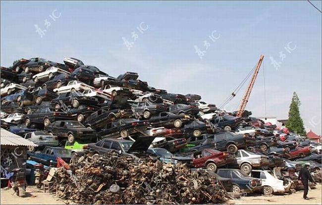 Autors: ralphon Ķīnas novecojušie un konfiscētie auto