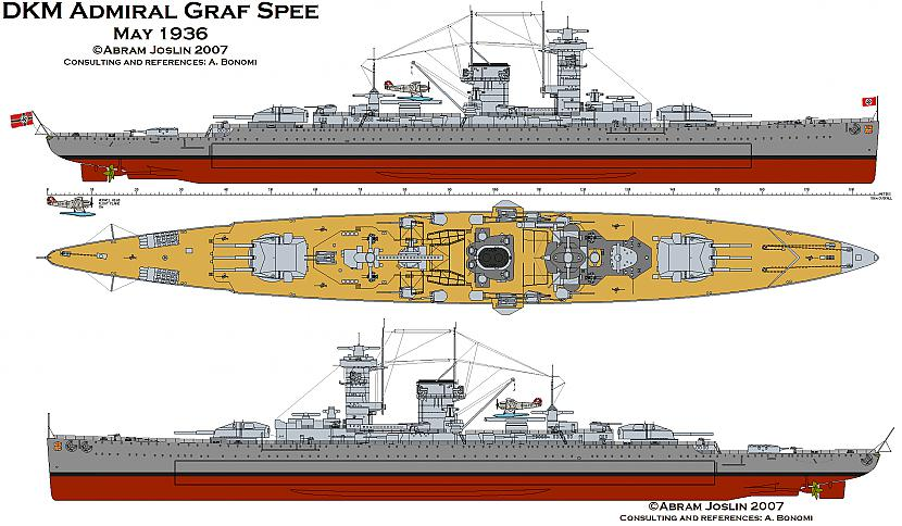 Kuģa bruņojumā ietilpaSeši... Autors: Dzelzbetons Hitlera kabatas pirāts