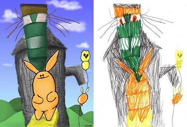 Autors: Eidžā Pēc bērnu zīmējumiem.