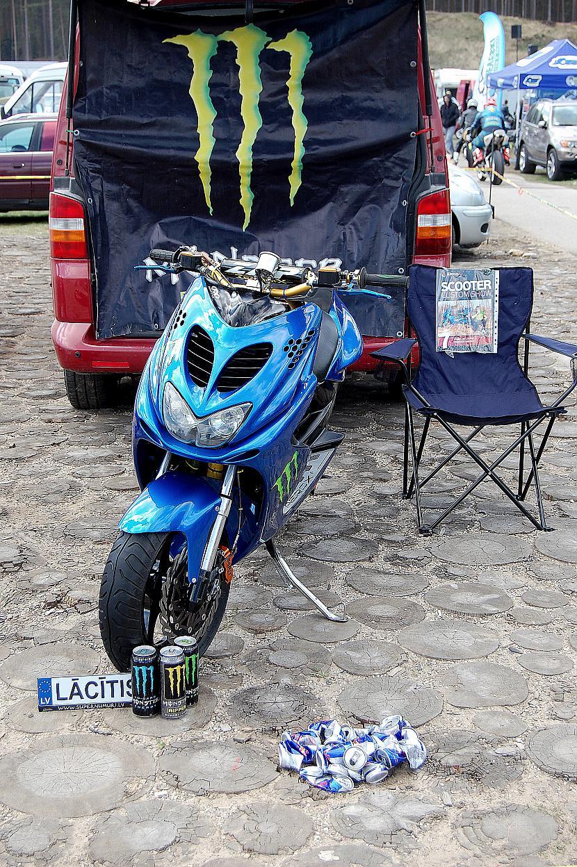Lācītis Yamaha Aerox šā gada... Autors: daavuks Skaistākie rolleri LATVIJĀ