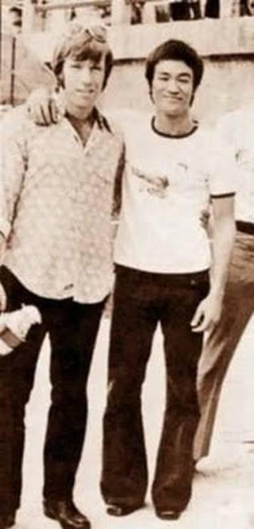 Čaks Noris un Brūs Lī Autors: KingOfTheSpokiLand Reti foto no vēstures