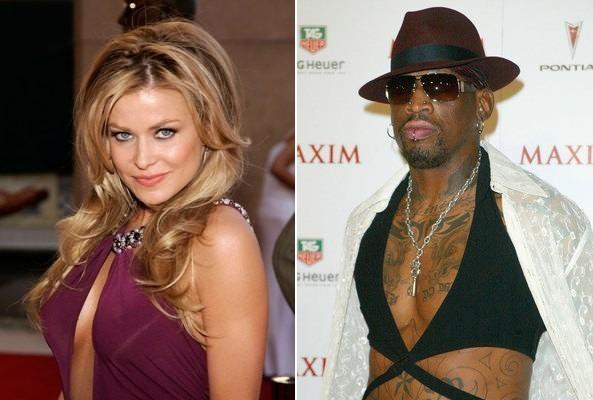 Carmen Electra  Dennis Rodman Autors: bee62 Celebrities Who Got Married in Vegas