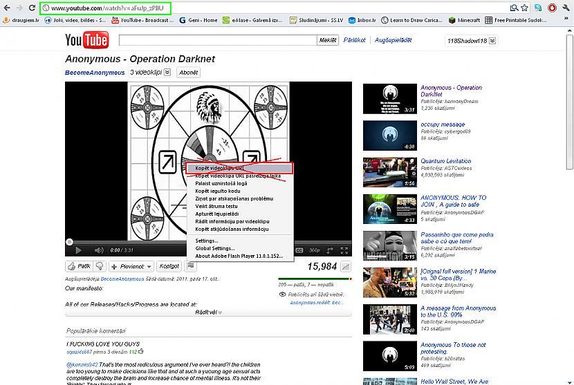 Svarīgi liekot video jākopē... Autors: shadow118 Ko darīt, ja nerāda video?