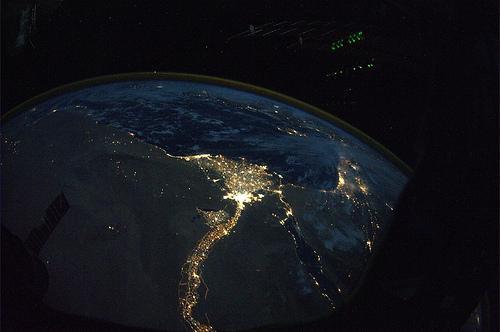 Nīlas upe un delta Autors: aģents 007 Attēli no SKS (starptautiskās kosmosa stacijas)