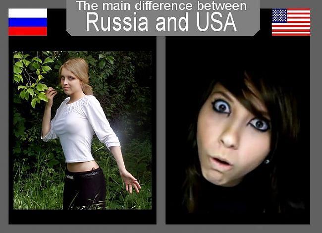 Autors: Fosilija Atšķirības starp Krieviju un ASV.
