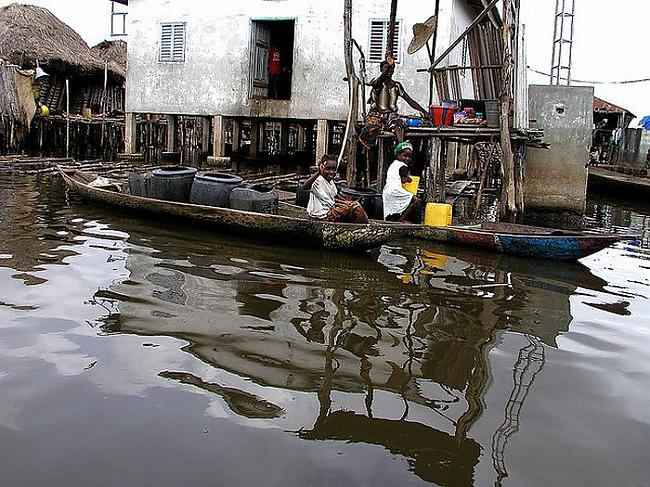 Autors: pofig Ganvija ezera pilsēta Āfrikā
