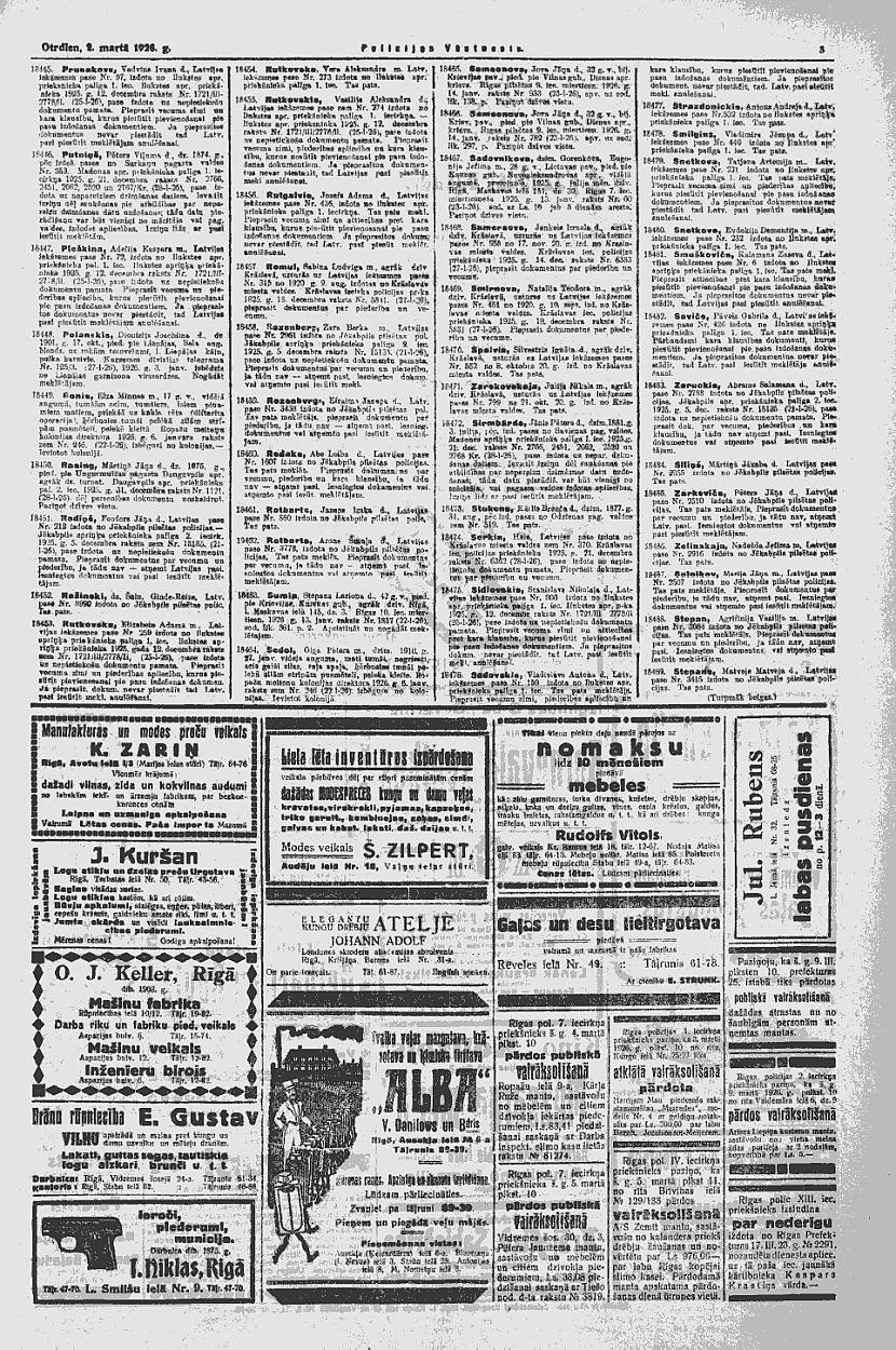 1928 gada marts Policijas... Autors: Ihonujmans Avīzes Latvijā pirms II pasaules kara.