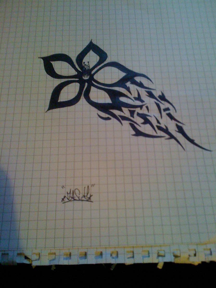 Tribal flower Autors: ZaSiCh Some my drawing