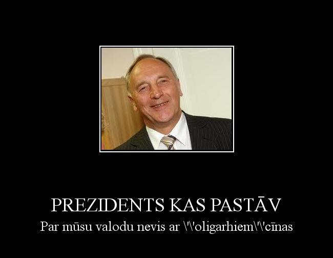 Autors: DarkForce Prezidents kas pastāv