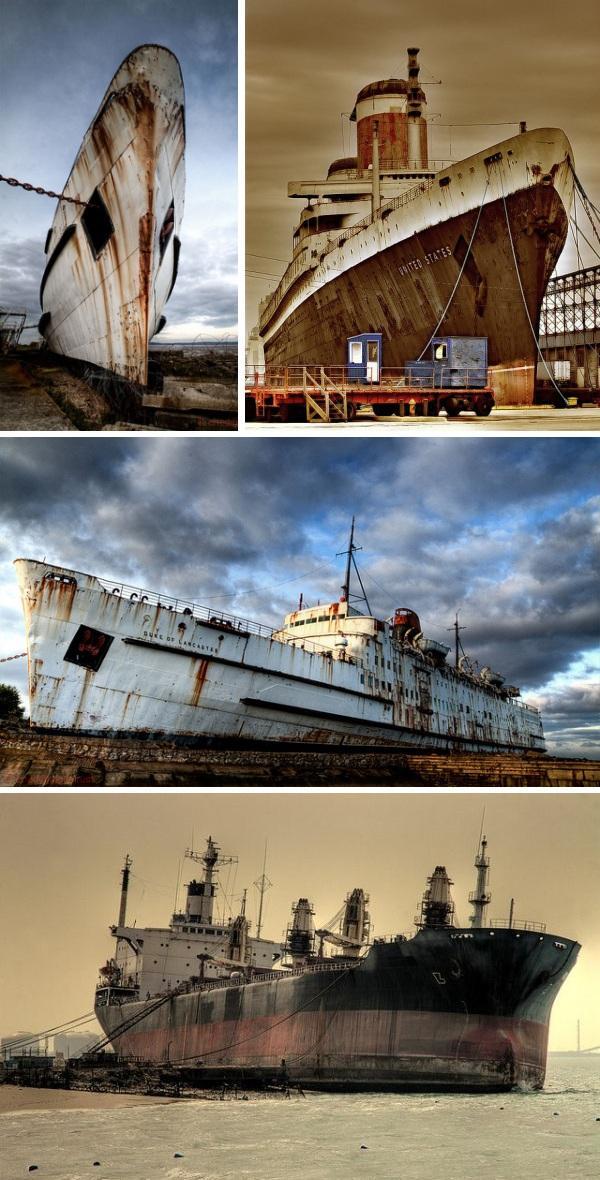 Lielākoties milzīgie laineri... Autors: LielaisLempis Pamesti kuģi...