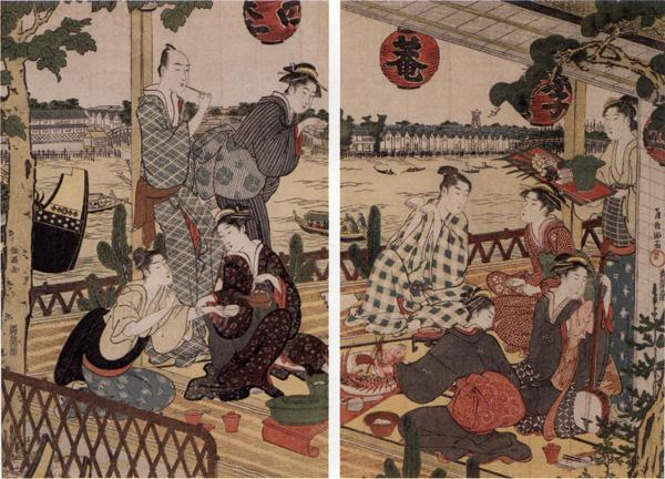 Shumman Kubo ukiyoe stilā... Autors: Grebe Geišu vēsture