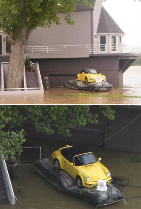 Lai arī plūdi var pārņemt kādu... Autors: AldisTheGreat 13 Asprātīgi atrisinājumi kā pārdzīvot plūdus.