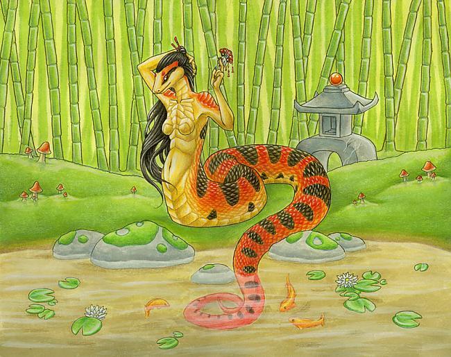 nbspAkamataa  ir čūskveida... Autors: Budzisss Japāņu mitoloģiskās būtnes no A līdz Z (1.daļa)
