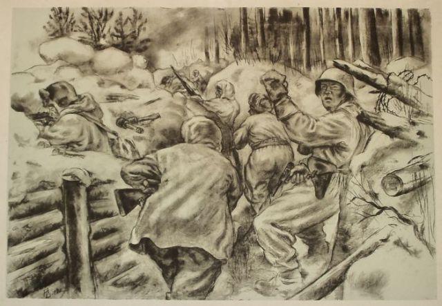 Autors: Freeway 2 pasaules karš ar zīmuli uz lapas