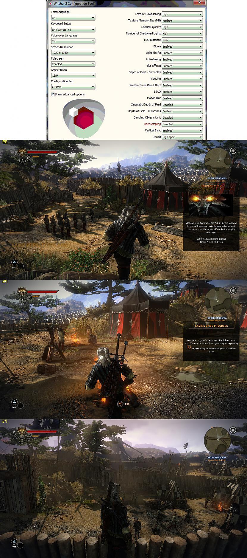 Witcher 2 Viena no smagākajām... Autors: BoyMan Tests: geimeru dators par 400Ls?