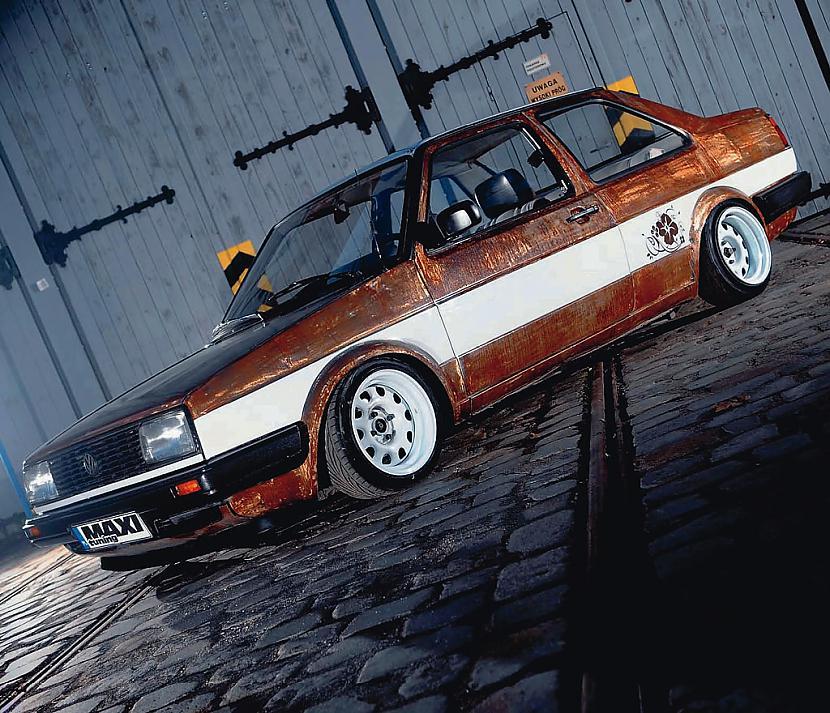 """Skaists VW Jetta eksemplārs... Autors: eifelis Autotūninga novirziens """"Rat Style"""""""