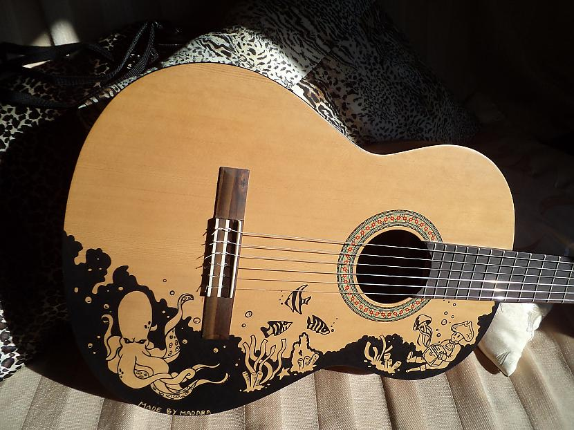Tā kā ģitāras virsma nebija... Autors: magdalene Ģitāras upgrade