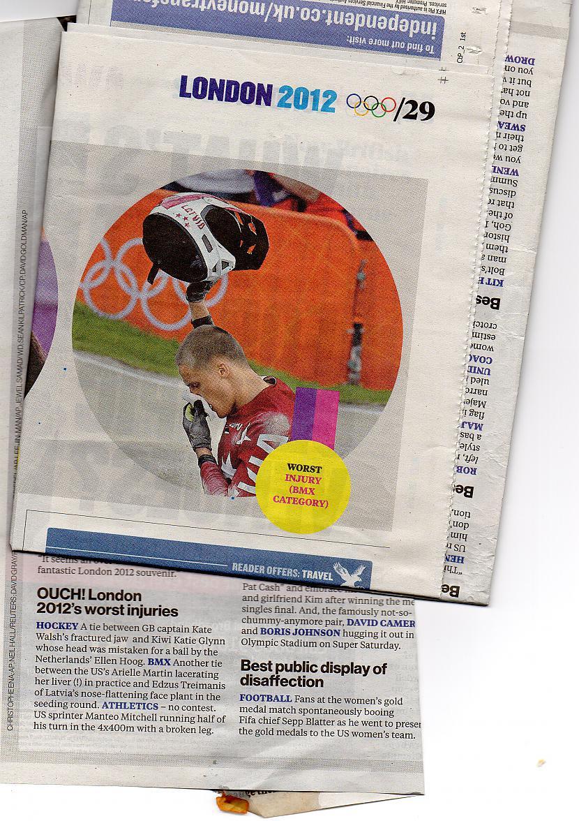 Olimpisko spēļu dalībnieku... Autors: spaii Mūsu Olimpieši avīzēs 2
