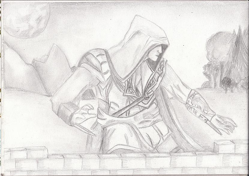 Pamēģināju uzzīmēt Ezio no... Autors: katnix Mani zīmējumi....2