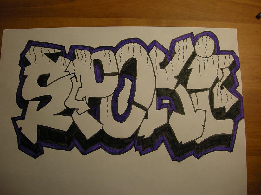 apvelk ar violēto marķieri Autors: Kazas kungs Kā es zīmēju graffiti