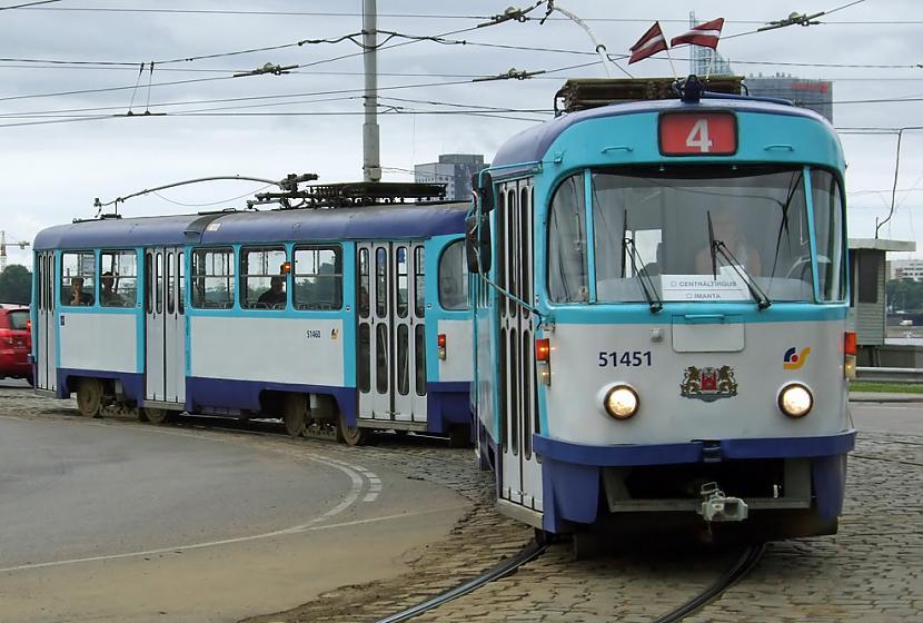 Tramvajs Tatra T3A... Autors: Fosilija Tramvaji Rīgā.