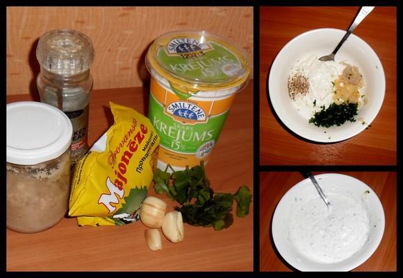 Taisam ķiploku mērcīti... Autors: Dianchaa Follijā cepta cūciņa + frī + salātiņi = mmm