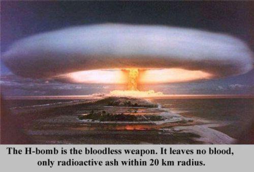 Ūdeņraža bumba ir bezasiņu... Autors: 8 Pāris fakti, kas mani šokēja!