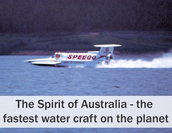 """1974 gadā quotSpirit of... Autors: Dzinchaaa Pasaules ātrākā motorlaiva - """"Spirit of Australia"""""""