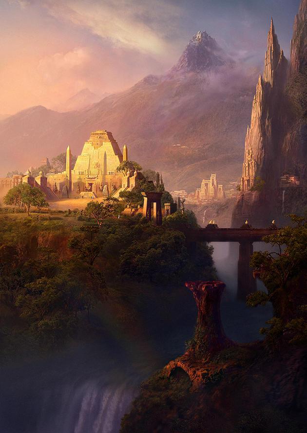 Kalnus ieskauj līdzenumi mazi... Autors: Fosilija Pazudusī pilsēta