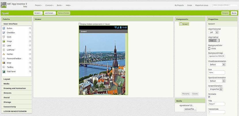 Ielādējam smuku fonu... Autors: Werkis2 Pamācība, kā uztaisīt savu Android programmu vai vienkāršu spēlīti !