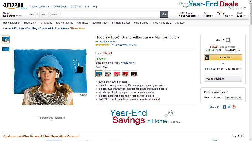 nbspHoodie Pillow spilvendrāna... Autors: Fosilija Superīgas preces internetā.