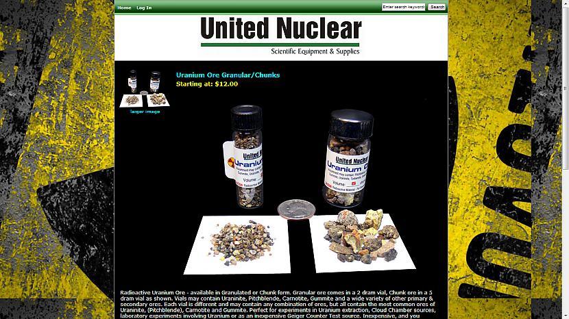 Radioaktīvā urāna rūda... Autors: Fosilija Superīgas preces internetā-2