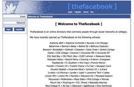 Facebook2004 gads  Autors: MaziņšSusuriņšs Dažādas mājaslapas  pirms dažiem gadiem