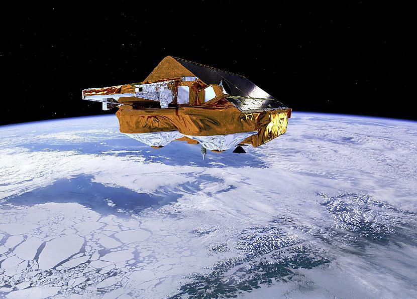 Satelīts peld virs Zemes Autors: Prāta Darbnīca Neparasti attēli no Zemes orbītas