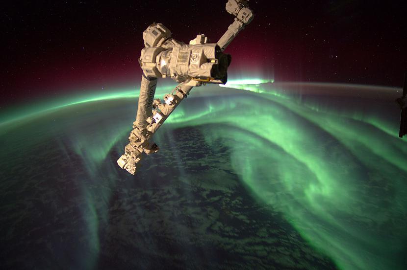 SKS un ziemeļblāzma Autors: Prāta Darbnīca Neparasti attēli no Zemes orbītas