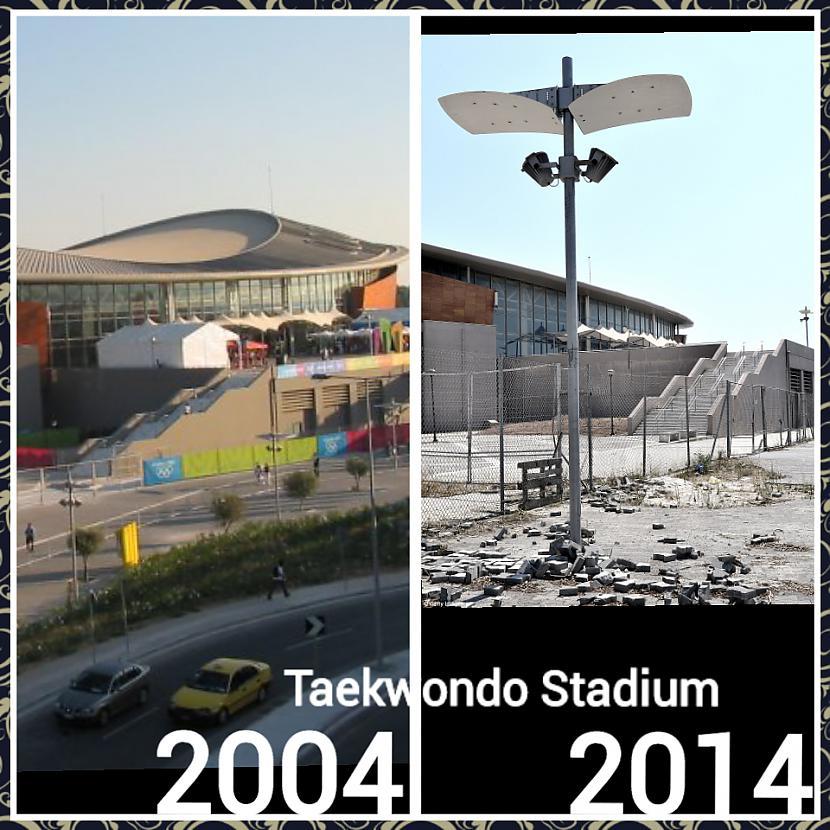 Cīņas sporta veidu halle pirms... Autors: ghost07 Kā izskatās Atēnu olimpiskie objekti pēc 10 gadiem?