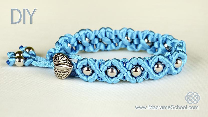 DIY Easy Wave Bracelet Autors: macrame Viļņveida aproce (DIY)
