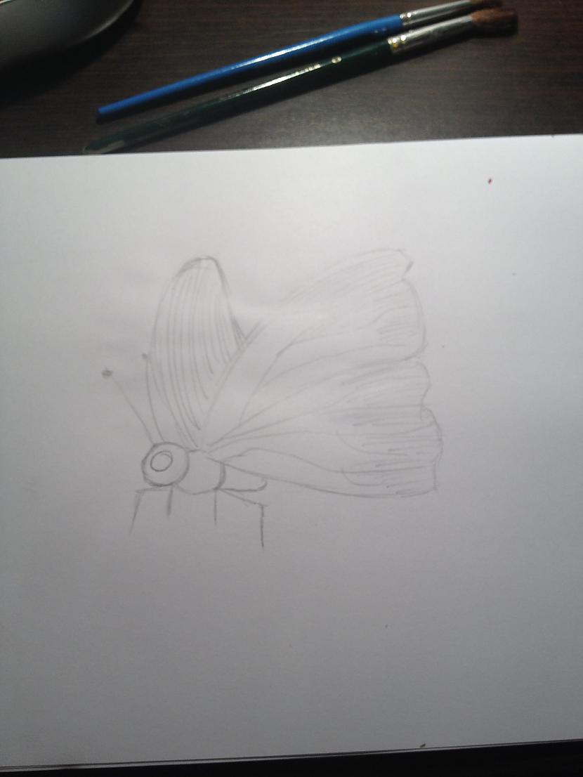 Tāda bija mana skice Man... Autors: DancuksijaD Mans zīmējums ar akvareļiem!