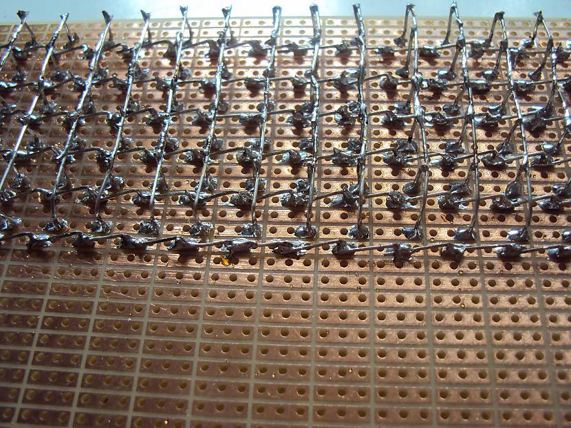 Savienojumi tuvplānā Autors: BL3NDeris DIY LED matrix